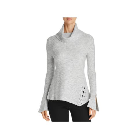 Heather B Womens Pullover Sweater Knit Cowl Neck