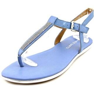 Franco Sarto L-Adria Open Toe Leather Thong Sandal