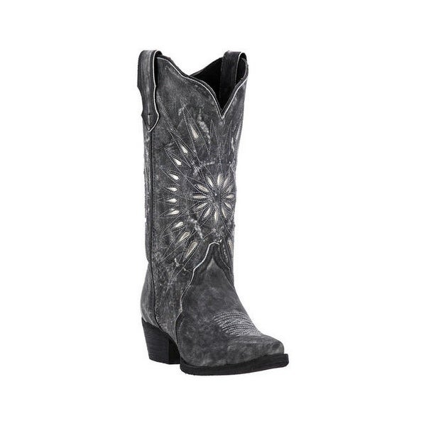 Laredo Western Boots Womens Starburst Snip Toe Leather Black