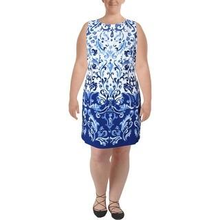 Lauren Ralph Lauren Womens Toralina Wear to Work Dress Printed Sleeveless