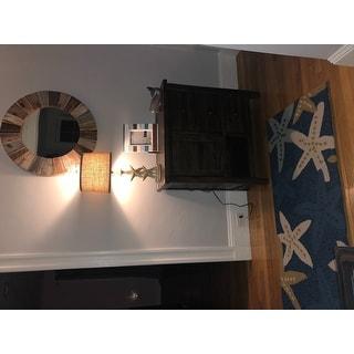 Taylor & Olive Clarks Indoor/ Outdoor Blue Starfish Area Rug - 2' x 6'