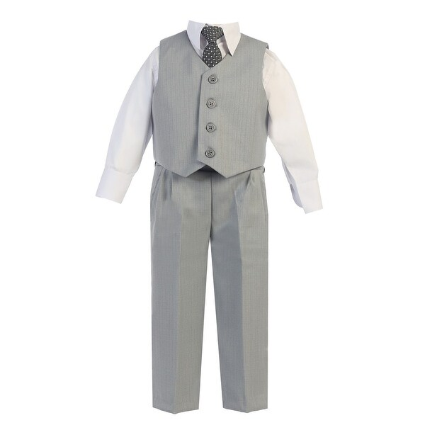 Baby Boys Light Gray Vest Pants Special Occasion Easter Outfit Set 6-24M