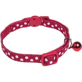 Red With White Dots - Petface Cat Collar