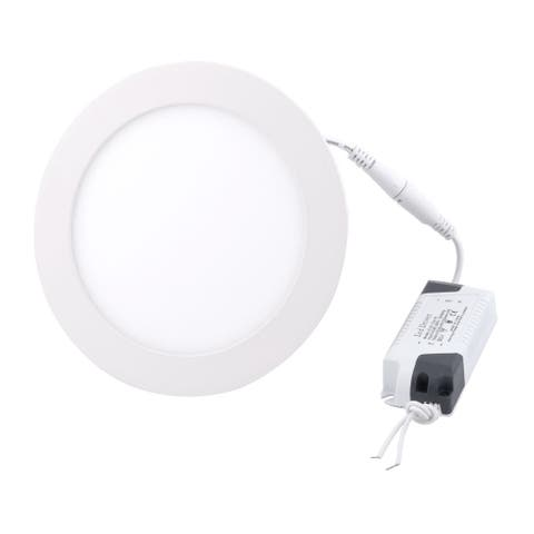Warm White 12W Round Bedroom Dimmable LED Recessed Ceiling Panel Light AC85-265V