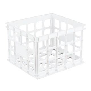 Sterilite White Storage Crate 16928006