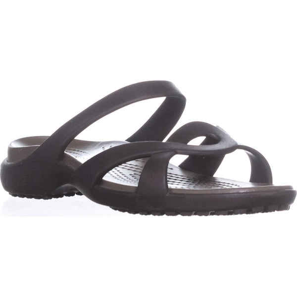 crocs Meleen Twist Sandals, Espresso/Walnut - 7 us / 37 eu