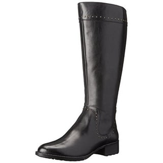 Circa Joan & David Womens Talaro Leather Wide Calf Riding Boots