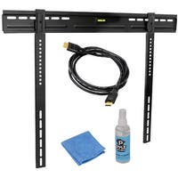 Pyle HDTV Video Kit With LED TV Wall Mount, HDMI Cable, And Screen Cleaner For 32'' To 60'' Flat Panel TV