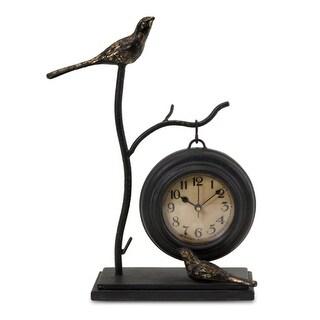 "12"" Charming Bird & Branch Design Hanging Table Clock"