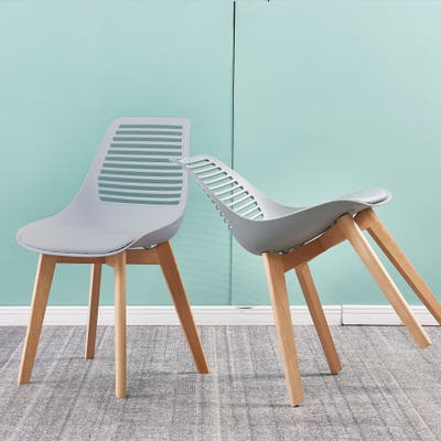 AOOLIVE plastic chair for dining room,living room chair set of 2