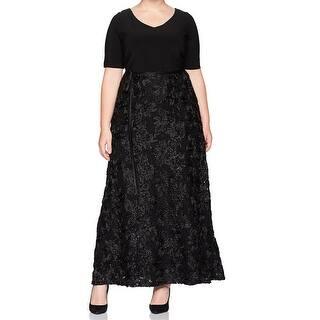 bd2011893d151 Quick View. Was  104.98.  32.99 OFF. Sale  71.99. Alex Evenings Black  Women s Size 14W Plus Rosette Gown Dress