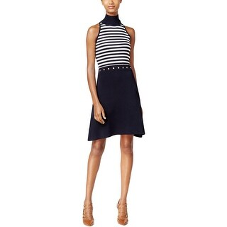 MICHAEL Michael Kors Womens Casual Dress Striped Sleeveless