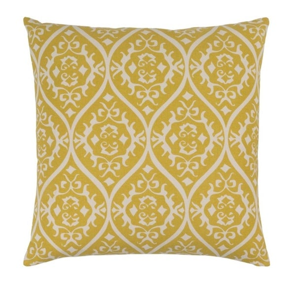 "18"" Heavenly Hourglass Middle Green Yellow and Timberwolf Gray Decorative Throw Pillow"