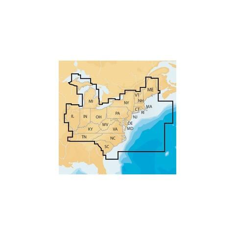 Navionics Regions - East - Preloaded MSD Format Electronic Chart