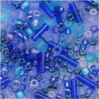 Toho Multi-Shape Glass Beads Amamizu Blue Color Mix 8 Gram Tube