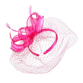 Betmar Women's Maree Bow Fascinator Headband with Peekaboo Netting