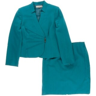 Tahari ASL Womens Caroline Textured 2PC Skirt Suit - 12