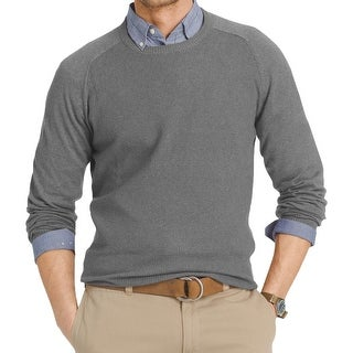 Izod Mens Crewneck Sweater Waffle Knit Crew-Neck