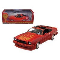 1978 Ford Mustang II King Cobra Red & Black With T Tops and Inserts 1/18 Diecast Model Car by Greenlight