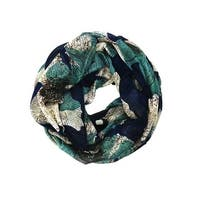 Women's Floral Lightweight Soft Infinity Loop Scarves - size:circumference 68 inches x 35 inches