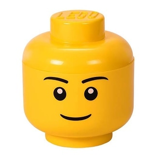 Lego Small Iconic Boy Mini-figure Storage Head, Yellow, Ages 3+