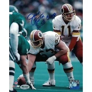 Jeff Bostic Autographed Washington Redskins 8x10 Photo vs Eagles 3x Champ SGC