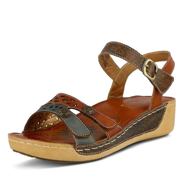 L'Artiste Freja Women Camel Multi Sandals