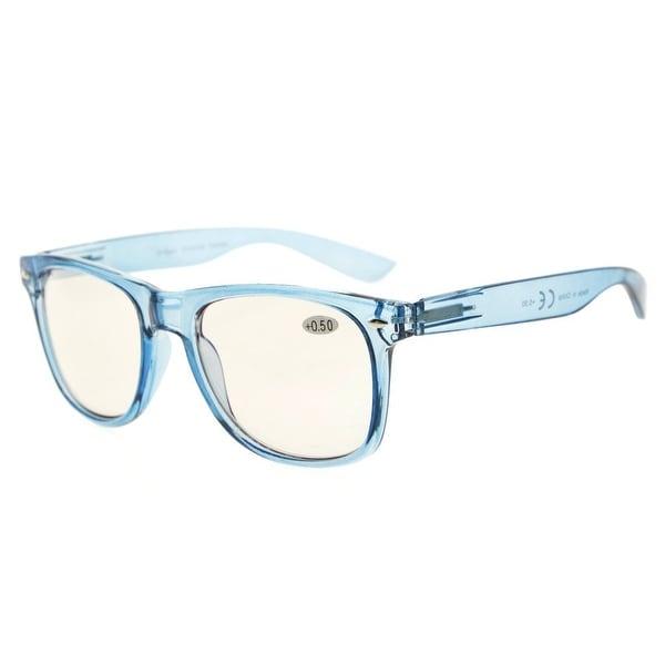 d501bfa762b Eyekepper Blue Light Blocking Glasses Digital Eye Strain Prevention Large  Simple Computer Reading Glasses(Blue