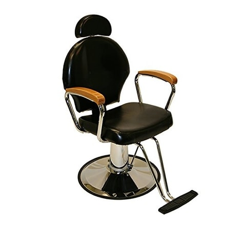 LCL Beauty Reclining Hydraulic-Lift with Adjustable Headrest and Hardwood Armrests