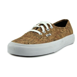 Vans Authentic  Men  Round Toe Synthetic Tan Sneakers