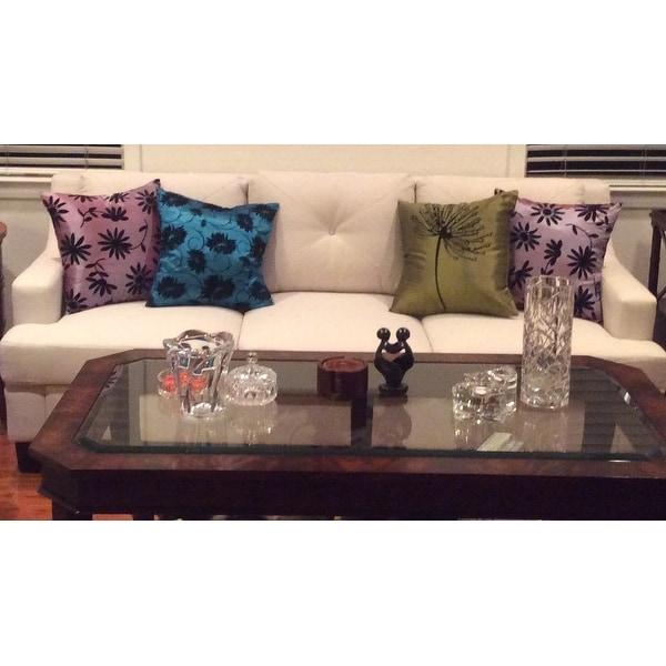Elston Linen Tufted Sloped Track Sofa Inspire Q Modern On Rh Com