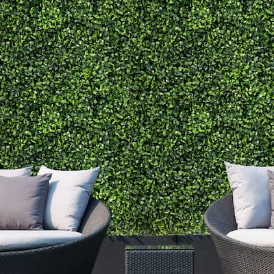 Artificial 12-piece Boxwood Privacy Screen Faux Plant Wall