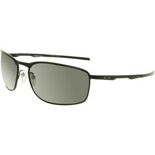 Oakley Men's Polarized Conductor 8 OO4107-02 Black Rectangle Sunglasses