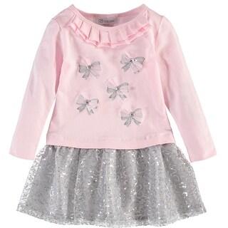 Gerson & Gerson Girls 2-6X Sequin Bow Dress - Pink