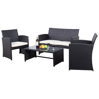 Black Patio Furniture   Shop The Best Outdoor Seating   Dining Brands    Overstock com. Black Patio Furniture   Shop The Best Outdoor Seating   Dining