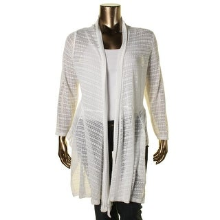 Jessica Simpson Womens Plus Elissa Lace Knit Open Front Cardigan Sweater - 2X