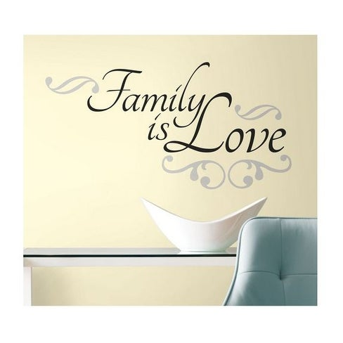 Roommates RMK2120SCS Family is Love Peel and Stick Wall Decals