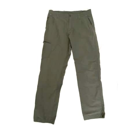 Columbia Mens Pants Moss Green Size 40x32 Cargo Slim Straight Outdoor