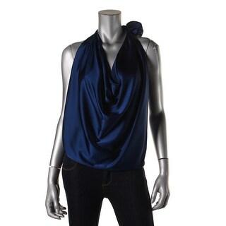 Ramy Brook Womens Silk Convertible Halter Top - L