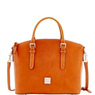 Dooney & Bourke Florentine Nuovo Domed Satchel (Introduced by Dooney & Bourke at $428 in Dec 2016) - Natural
