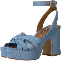 Nine West Women's Fetuchini Denim Heeled Sandal