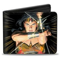 Wonder Woman Mythology Crossed Pose Bi Fold Wallet - One Size Fits most