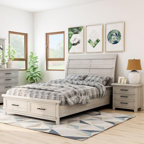 Furniture of America Tiwo Transitional White 2-piece Bedroom Set