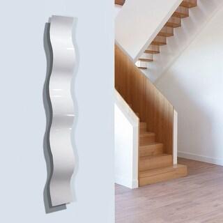 "Statements2000 White Metal Wall Art Accent Wave Decor by Jon Allen - White Wave - 46.5"" x 6"""