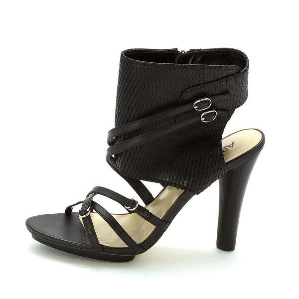 A.B.S. by Allen Schwartz Womens Caravan Open Toe Ankle Wrap D-orsay Pumps - 9.5