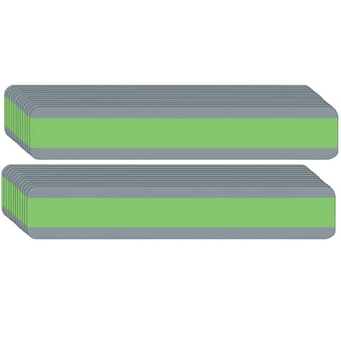 """Double Wide Sentence Strip Reading Guide, 1.25"""" x 7.25"""", Light Green, Pack of 24 - One Size"""