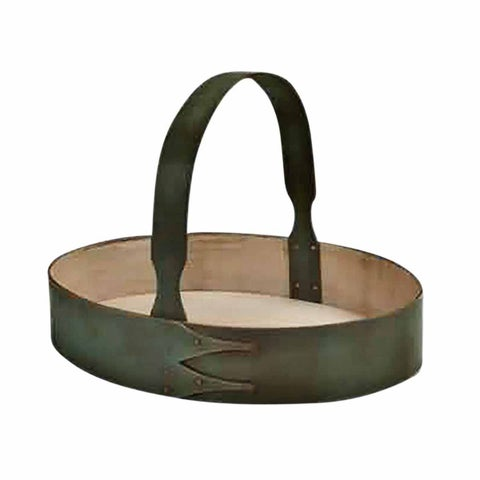 Wood Tray Antique Green Shaker Style 14.5W