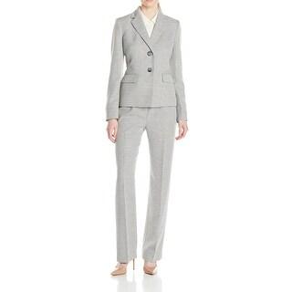 Le Suit NEW Gray Women's Size 16 Two-Button Notched Pant Suit Set