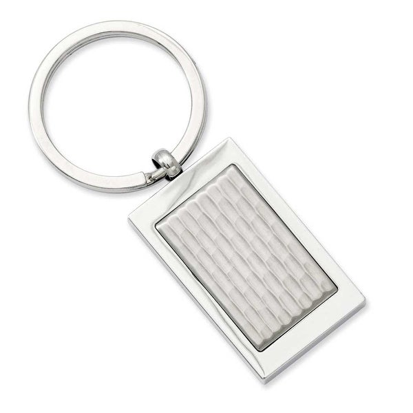Stainless Steel Textured Key Ring