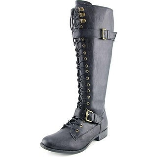 Rocket Dog Beany Wide Calf Women W Round Toe Synthetic Knee High Boot